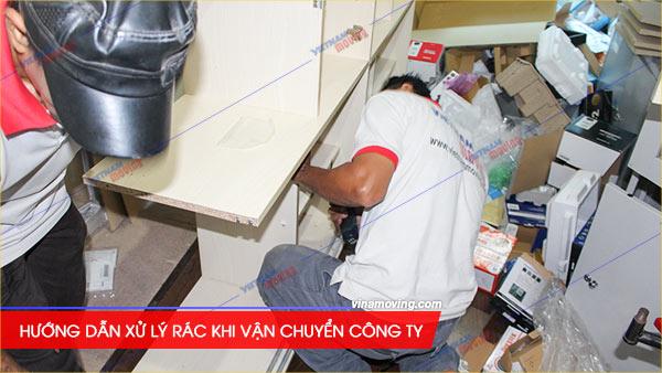 Xử lý rác công ty, Hướng dẫn xử lý rác khi vận chuyển công ty