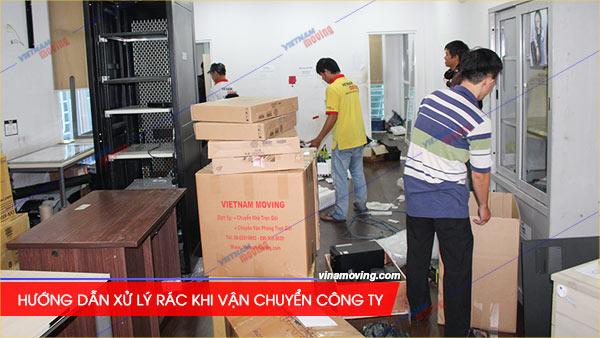 Hướng dẫn xử lý rác khi vận chuyển công ty