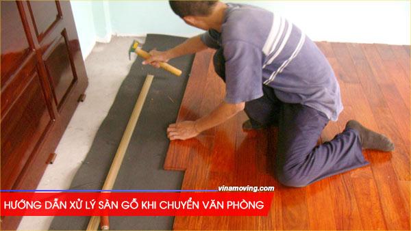 xử lý sàn gỗ văn phòng