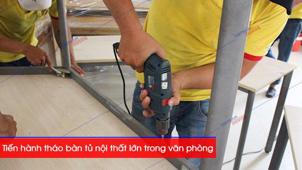 Dịch vụ chuyển văn phòng chuyên nghiệp tại Vietnam Moving- Tháo lắp nội thất