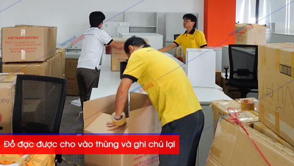 đồ đạc đóng gói, ghi chú khi chuyển văn phòng tại Vietnam Moving
