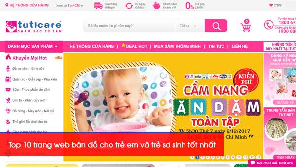 Top 10 trang web bán đồ cho trẻ em và trẻ sơ sinh tốt nhất