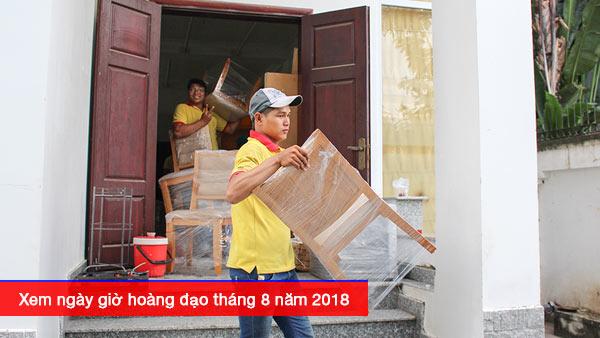 Xem ngày giờ hoàng đạo trong tháng 8 năm 2018, Hãy sử dụng dịch vụ chuyển văn phòng của Vinamoving