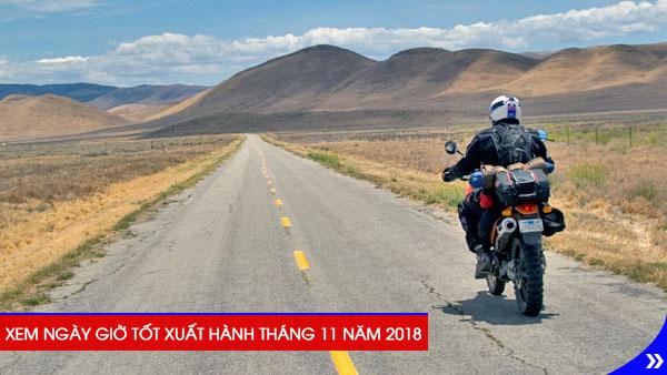 Xem ngày giờ tốt xuất hành theo tuổi trong tháng 11 năm 2018, Xem ngày xuất hành là một thói quen từ bao đời nay của người Việt với mong muốn cầu thuận lợi và may mắn