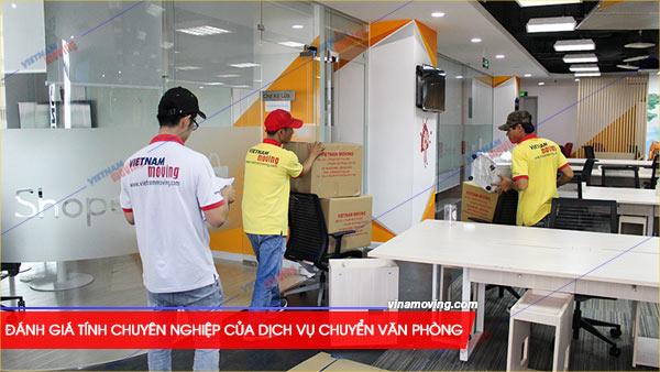 Đánh giá tính chuyên nghiệp của dịch vụ chuyển văn phòng