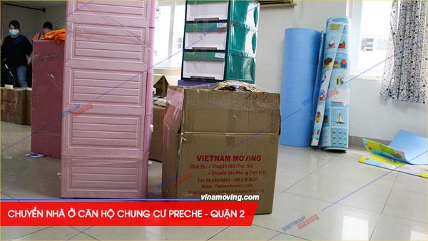Vinamoving là sự lựa chọn tin cậy đối với khách hàng khi muốn chuyển đến chung cư Preche