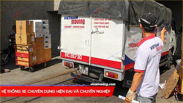 Chuyển văn phòng trọn gói tại Quận Long Biên, TP Hà Nội, Hệ thống xe chuyên dụng hiện đại và chuyên nghiệp