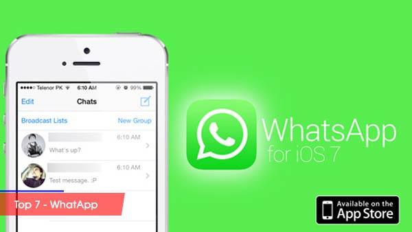 Top 10 trang mạng xã hội được nhiều người sử dụng nhất - Top 7 WhatApp