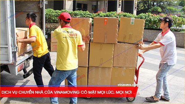 Dịch vụ chuyển nhà của Vinamoving có mặt mọi lúc, mọi nơi để phục vụ khách hàng