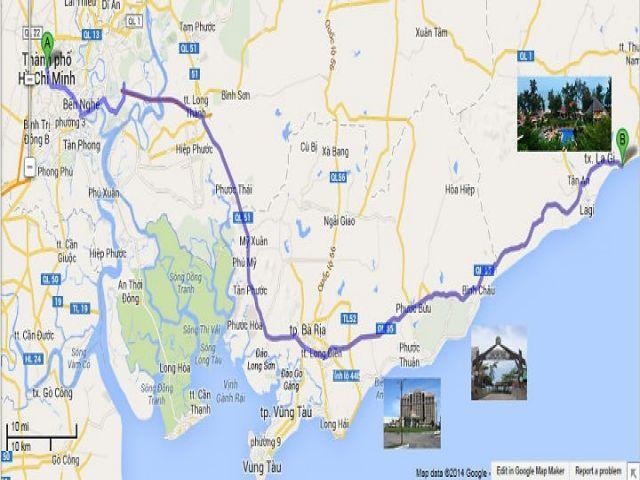 Từ TPHCM đi Bình Thuận bao nhiêu Km?