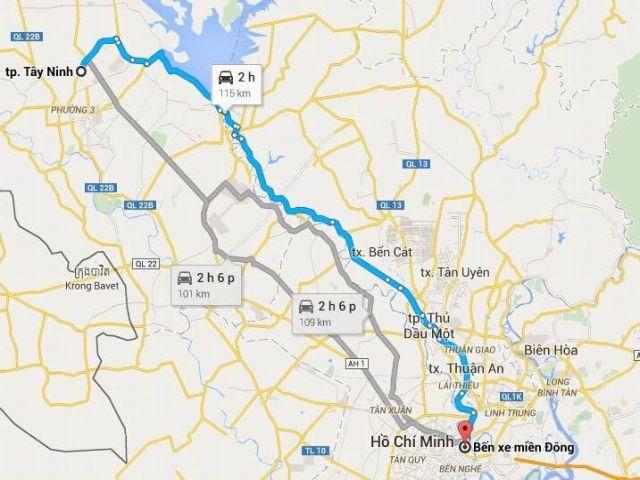 Từ TPHCM đi Tây Ninh bao nhiêu km?