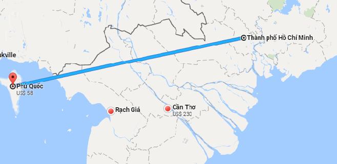 Từ TPHCM đi Phú Quốc bao nhiêu Km ?