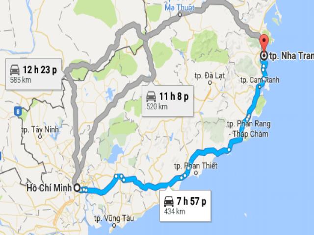 Từ thành phố Hồ Chí Minh đi Nha Trang bao nhiêu km?