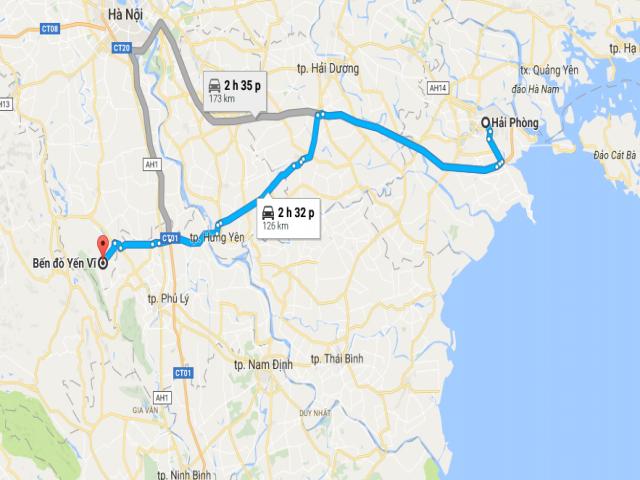 Từ Hải Phòng đi chùa Hương bao nhiêu km?
