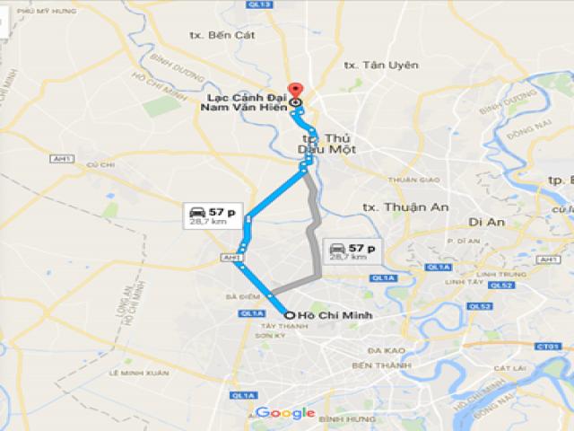 Từ TPHCM đi Đại Nam bao nhiêu Km?