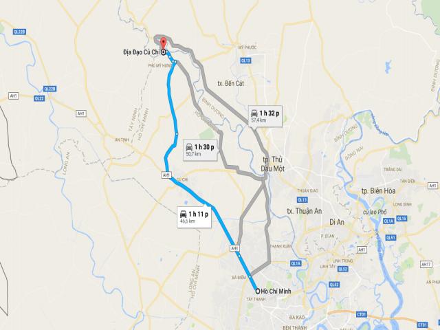 Từ TPHCM đi Địa đạo Củ Chi bao nhiêu km?