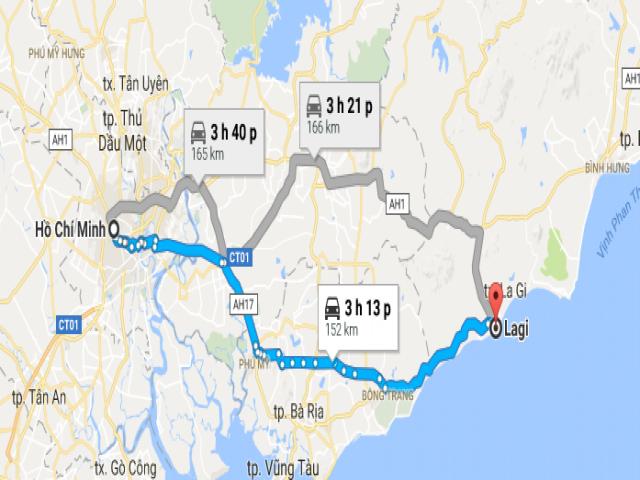 Từ TPHCM đi La Gi bao nhiêu Km?