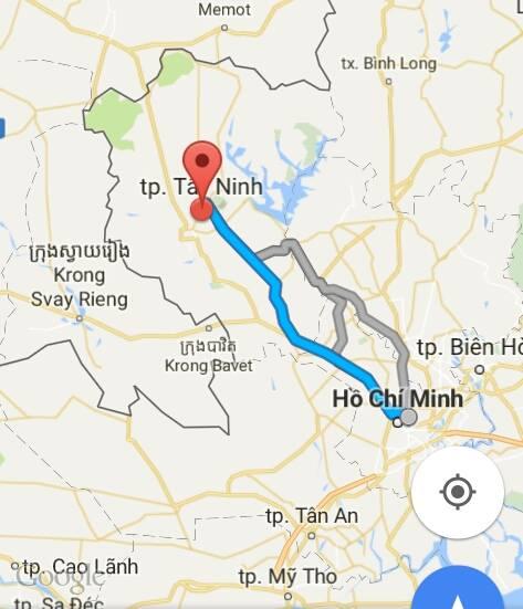 Từ TP.Hồ Chí Minh đi Tây Ninh bao nhiêu km?