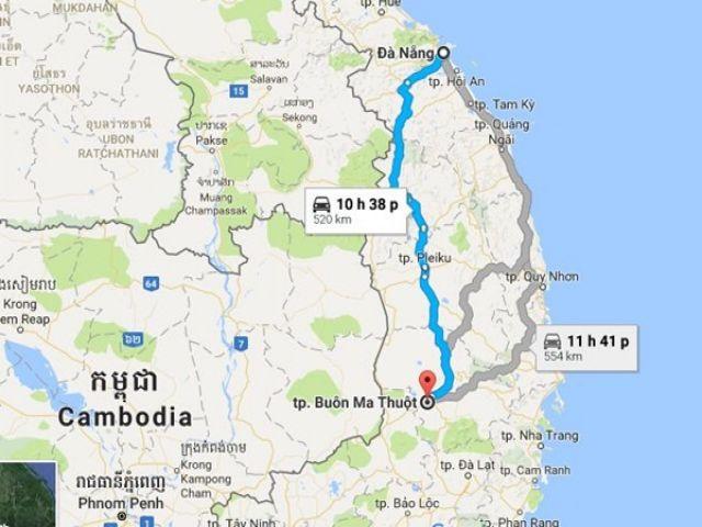 Từ Đà Nẵng đi Buôn Mê Thuột bao nhiêu km?