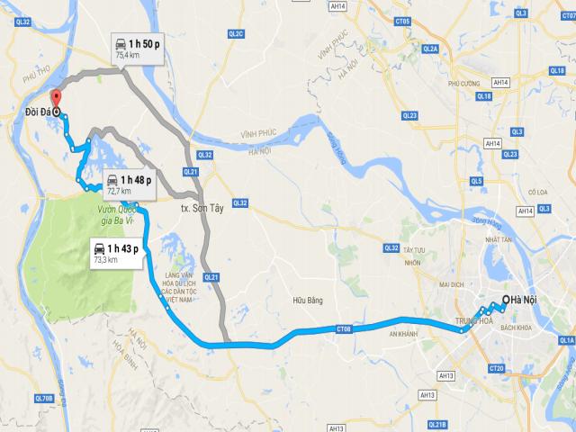 Từ Hà Nội đi K9 bao nhiêu km?