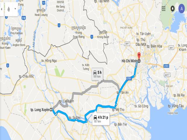 Từ TPHCM đi An Giang bao nhiêu km? Khoảng cách Sài Gòn đi An Giang