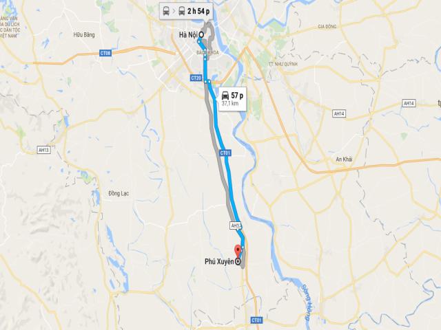 Từ Hà Nội đi Phú Xuyên bao nhiêu km?
