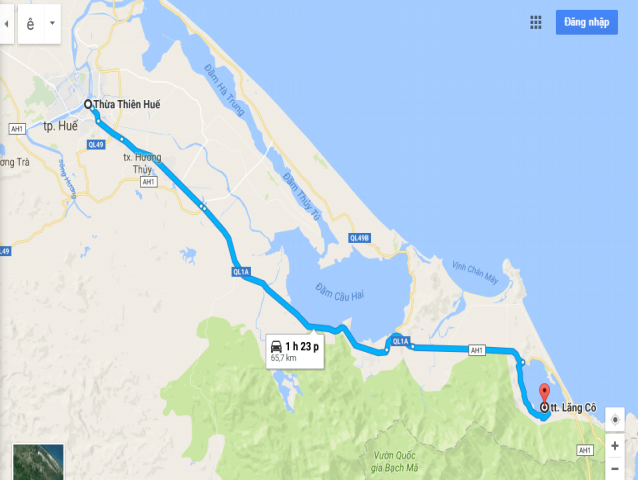 Từ Huế đi Lăng Cô bao nhiêu km?