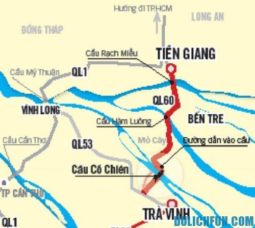 Từ TP.Hồ Chí Minh đi Trà Vinh bao nhiêu km ?