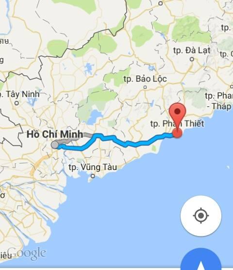 Từ TP.Hồ Chí Minh đi Bình Thuận bao nhiêu km ?
