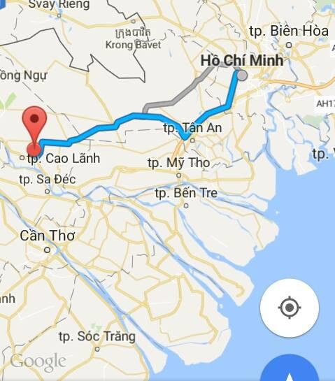 Từ TP.Hồ Chí Minh đi Đồng Tháp bao nhiêu km?