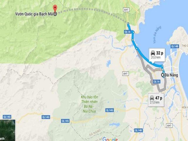 Từ Đà Nẵng đi Bạch Mã bao nhiêu km?