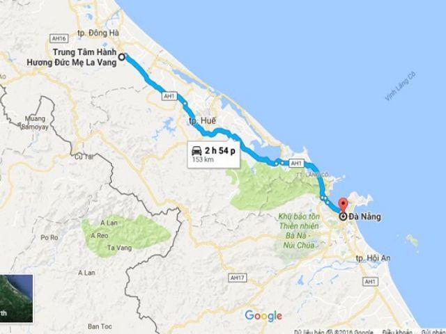 Từ Đà Nẵng đi La Vang bao nhiêu km?