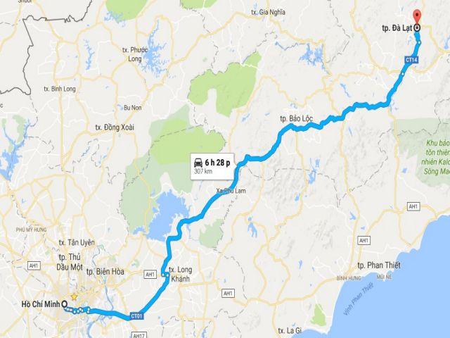 Từ tphcm đi đà lạt bao nhiêu km?