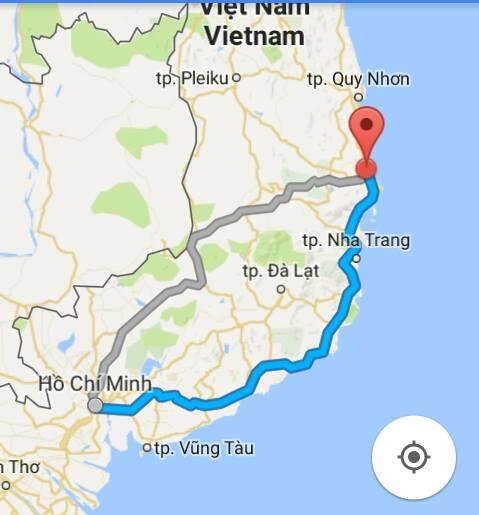 Từ TP.Hồ Chí Minh đi Phú Yên bao nhiêu km?