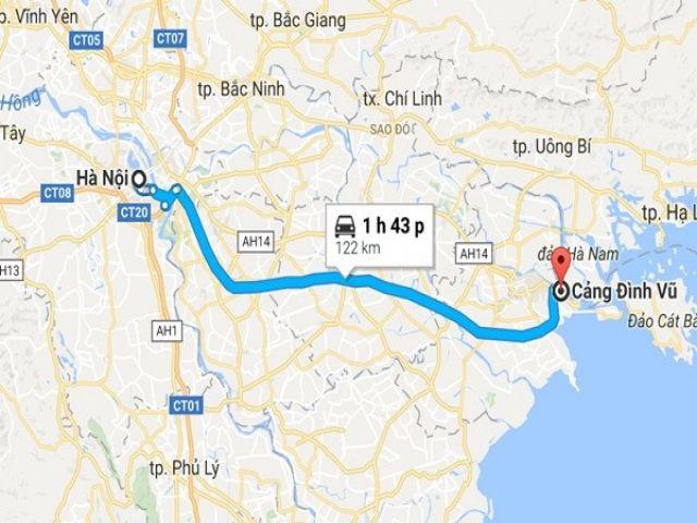 Từ Hà Nội đi Cát Bà bao nhiêu km?