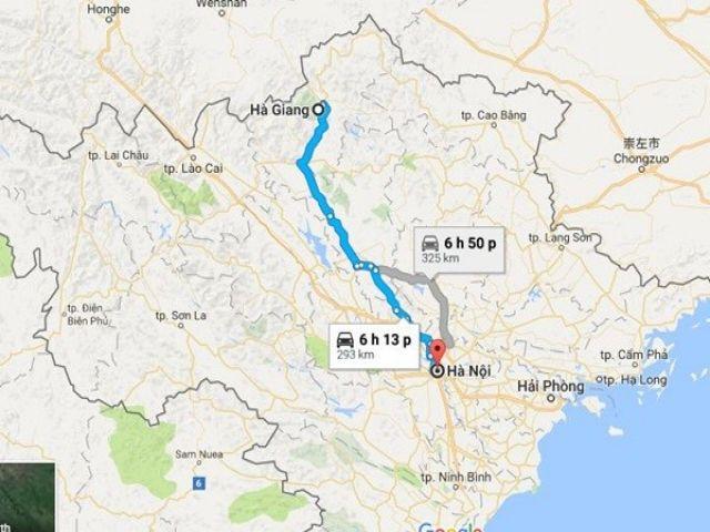Từ Hà Nội đi Hà Giang bao nhiêu km?