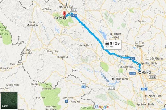 Từ Hà Nội đi Sa Pa bao nhiêu km?