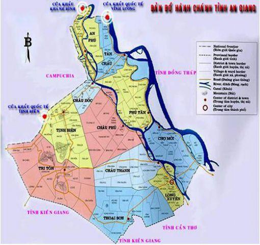 Từ thành phố Hồ Chí Minh đi An Giang bao nhiêu km?
