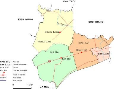 Từ TPHCM đi Bạc Liêu bao nhiêu km?