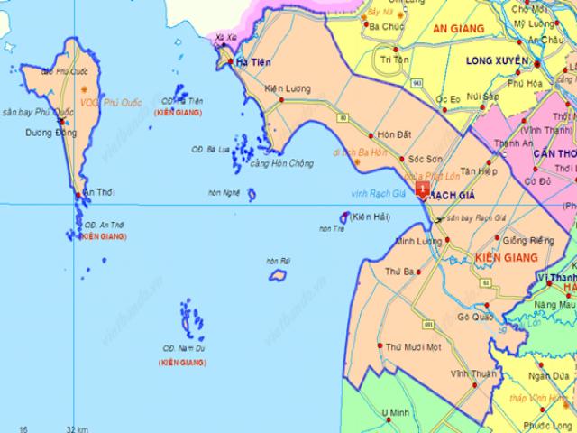 Từ Hà Nội đi Phú Quốc bao nhiêu km?