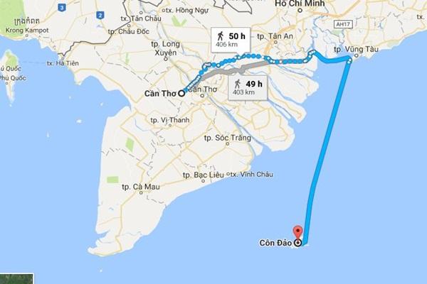 Côn Đảo bao nhiêu km?
