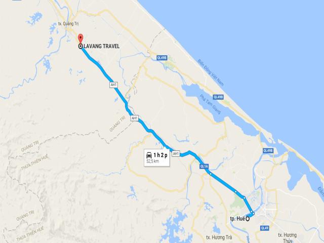 Từ Huế đi La Vang bao nhiêu km?