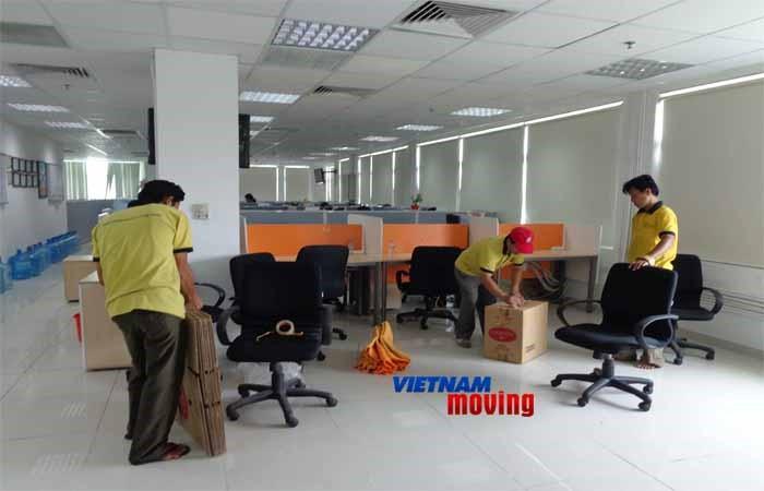 Dịch vụ chuyển văn phòng ở Vincom Đồng Khởi
