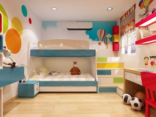Cách bố trí phòng ở trẻ em