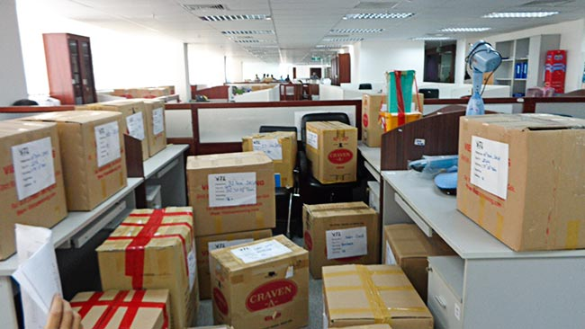 Bảng giá dịch vụ chuyển văn phòng trọn gói công ty Vina Moving
