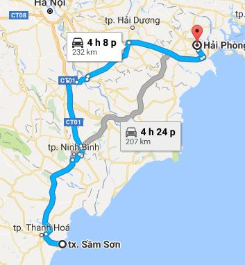 Từ Hải Phòng đi Đồ Sơn bao nhiêu km?