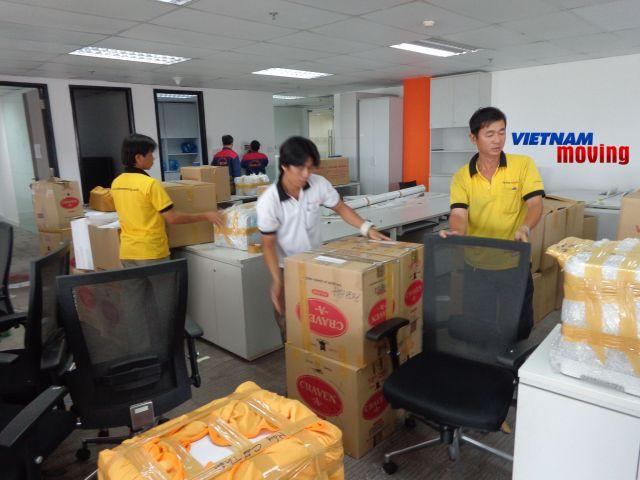 Dịch vụ chuyển văn phòng có hỗ trợ sắp xếp đồ đạc