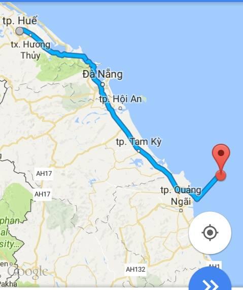 Từ thành phố Huế đi Lý Sơn