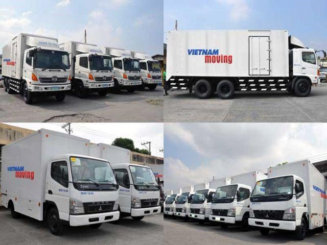 Hệ thống xe chuyên chở Vietnam Moving đa dạng hỗ trợ công việc chuyển nhà