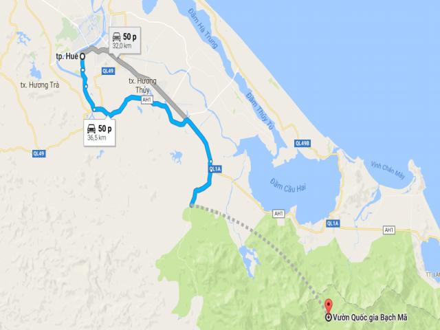 Từ Huế đi Vườn Quốc gia Bạch Mã